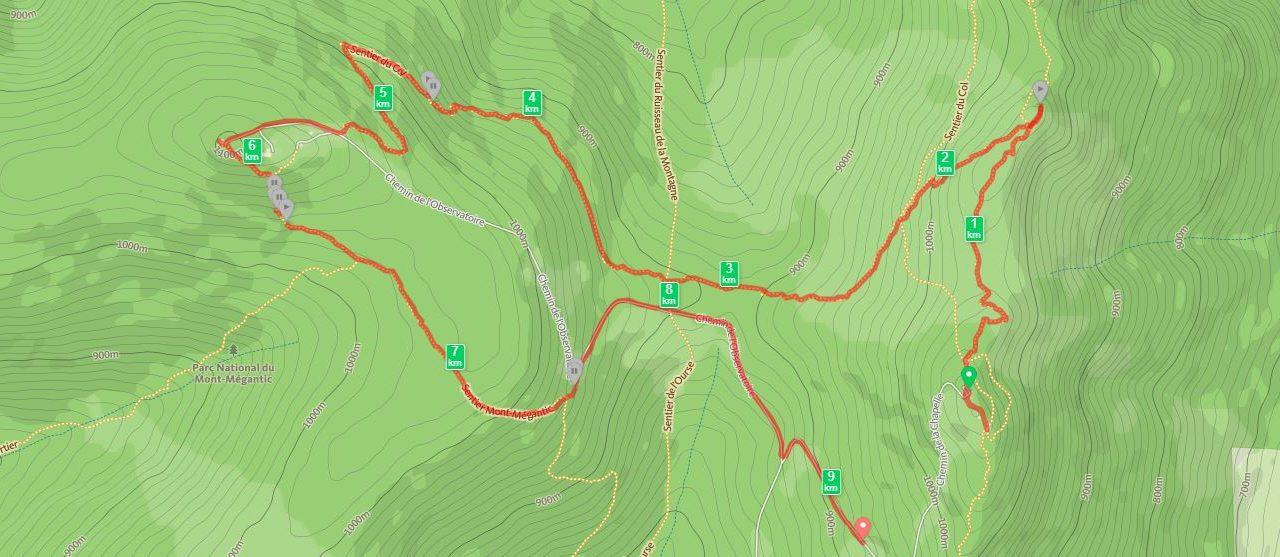 20/08/2016, Mont Mégantic, 10km